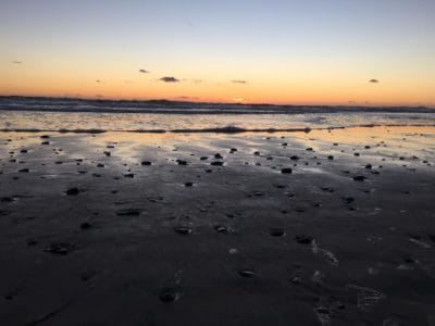 Playa, sunrise, cielo, nube, retroiluminado, mar, agua, mar, arena, marino, amanecer
