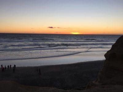 východ slunce, stín, tmy, obloha, podsvícení, vody, pláž, svítání, soumraku, moře, oceánu, přímořské