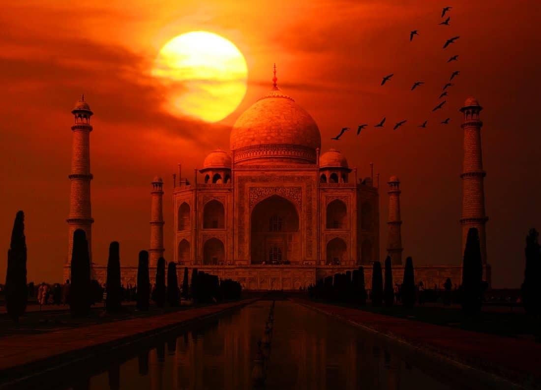 zonsopgang, religie, moskee, dawn, architectuur, tempel, mausoleum, religie