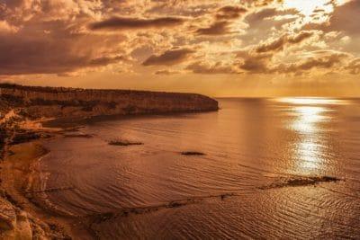 solopgang, kyst, cloud, baggrundsbelyst, vand, dawn, udendørs, sky, natur