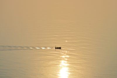 water, sunrise, sunlight, boat, reflection, beach, sea, lake, ocean, dawn