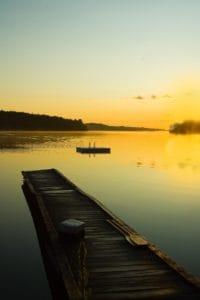vand, solopgang, sunlught, dawn, søen, refleksion, sky, udendørs