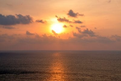 sunrise, sunlight, dawn, sun, water, sea, ocean, beach, dusk, landscape