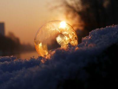 silhouette, frost, crystal, winter, sunrise, backlit, sunlight, nature