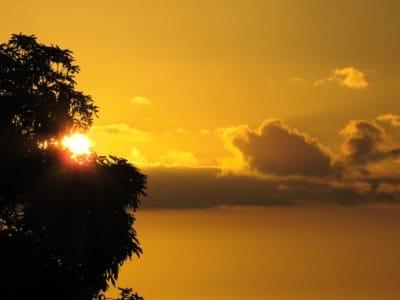 alba, nuvola, alba, sole, retroilluminato, sagoma, crepuscolo, cielo, paesaggio