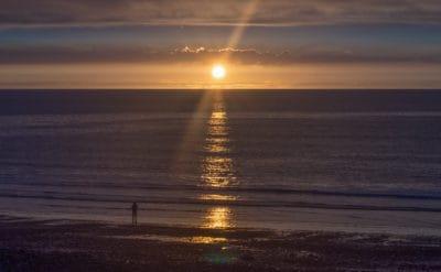 východ slunce, obloha, temnota, stín, vody, slunce, moře, dawn, pláž, oceán, obloha, sunrise