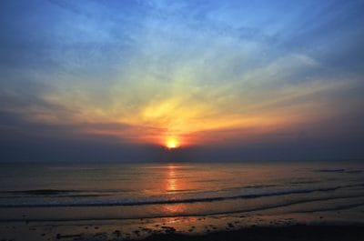 sunrise, sky, cloud, sun, dawn, water, beach, sea, ocean, sky, sunrise