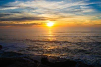 luz del sol, salida del sol, Pacífico, sol, amanecer, agua, playa, mar, océano, paisaje