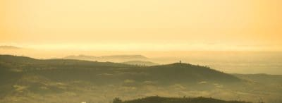 brume, paysage, brouillard, aube, lever du soleil, ciel, plein air, montagne