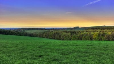 landscape, nature, sunrise, pasture, agriculture, sky, grass, field, meadow, rural