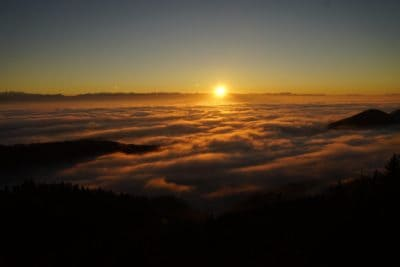 lever du soleil, nuage, aube, soleil, crépuscule, ciel, océan, mer, ombre