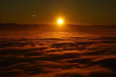 sunrise, cloud, dawn, sun, dusk, darkness