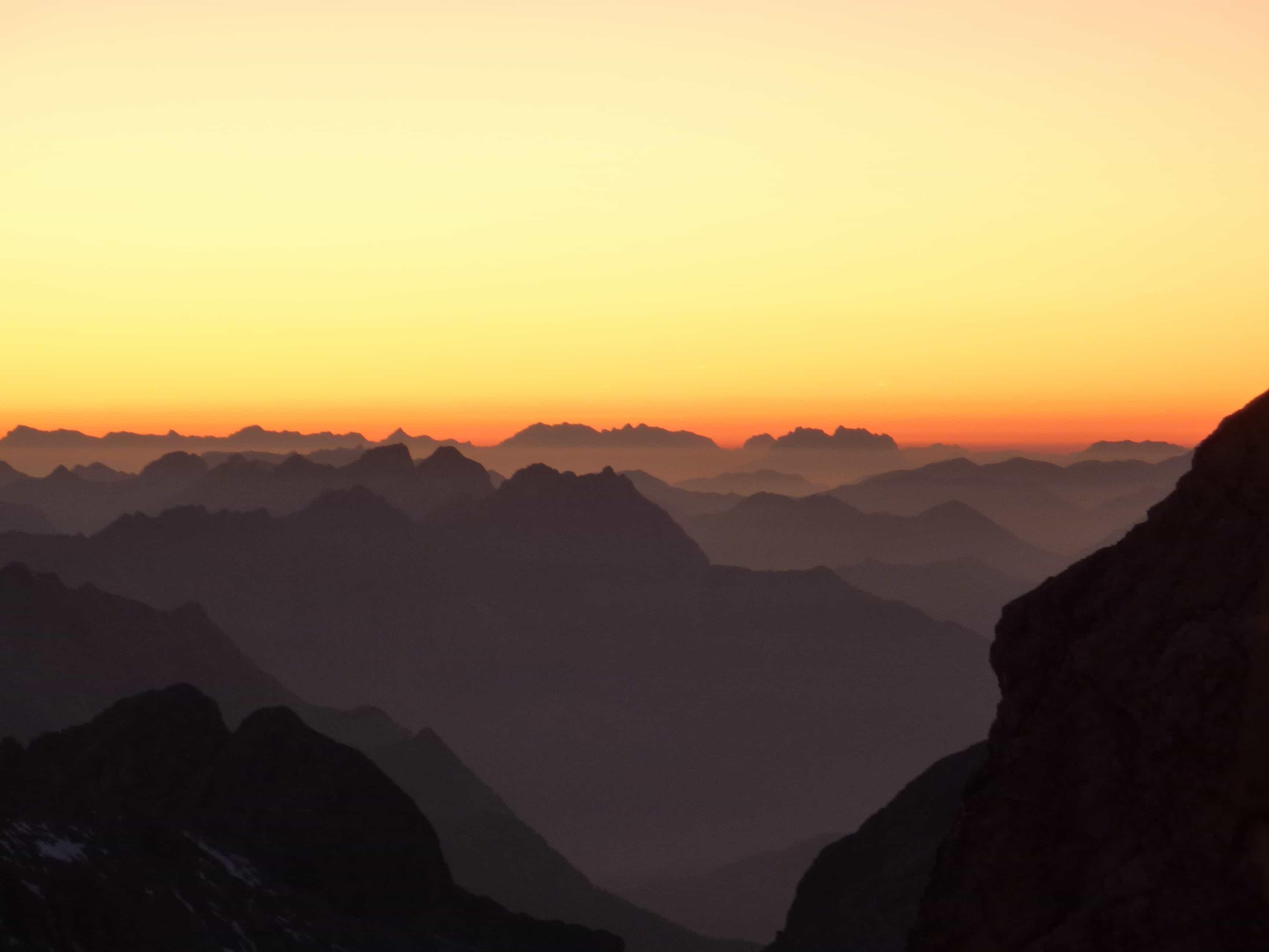 Free Picture Sunrise Sunlight Dawn Mountain Fog