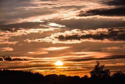 Alba, sagoma, alba, sole, cielo, natura, tramonto, alba, paesaggio, all'aperto
