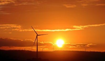 lever du soleil, vent en plein air, rouge, moulin à vent, aube, silhouette, soleil, vent, ciel, paysage