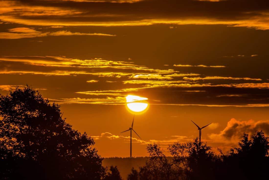 lever du soleil, silhouette, nuit, silhouette, aube, soleil, ciel, crépuscule, lever du soleil, paysage