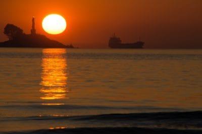 sunrise, sky, backlit, dawn, water, sun, dusk, sea, ocean, beach, sunrise