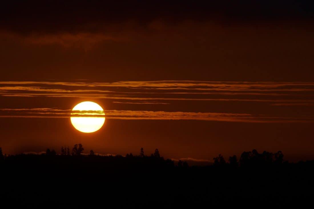 salida del sol, noche, oscuridad, amanecer, crepúsculo, sol, cielo, paisaje, silueta