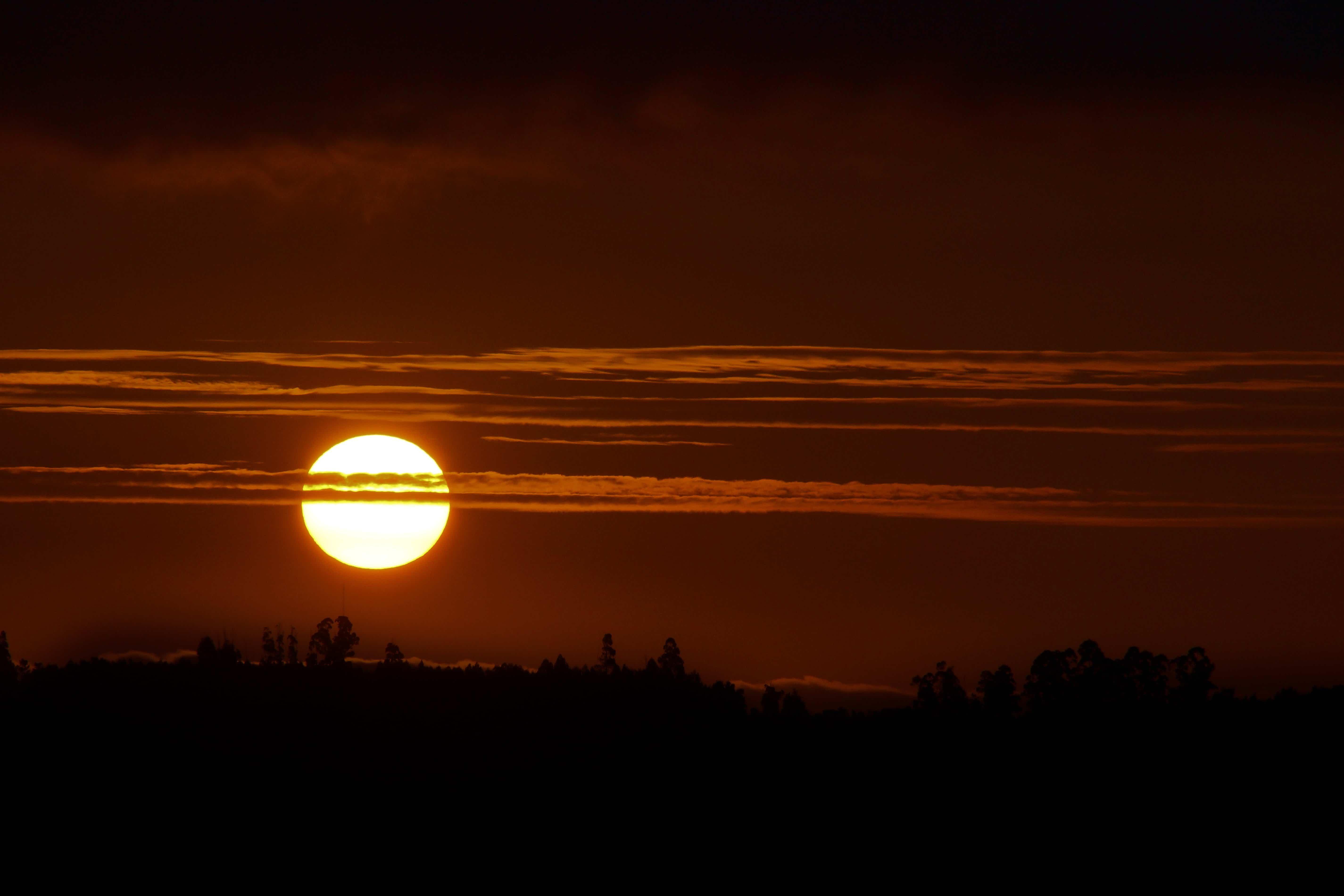 Free Picture  Sunrise  Night  Dark  Dawn  Dusk  Sun  Sky  Landscape  Silhouette