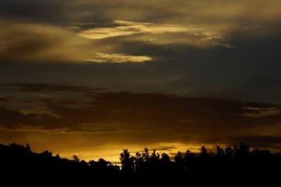 lever du soleil, sombre, silhouette, aube, ciel, soleil, ambiance, paysage, lever du soleil