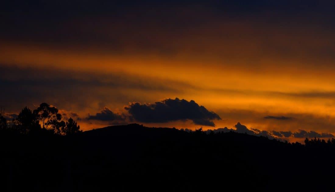 amanecer, silueta, oscuridad, amanecer, cielo, silueta, crepúsculo, sol, paisaje