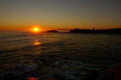 Sunrise, obloha, tmavý, tma, dawn, voda, soumraku, slunce, moře, pláž, oceán, východ slunce