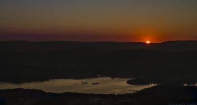 lever du soleil, obscurité, nuit, aube, crépuscule, brouillard, soleil, ciel, paysage, montagne