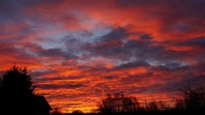 sunrise, silhouette, dawn, sky, atmosphere, sun, cloud, landscape