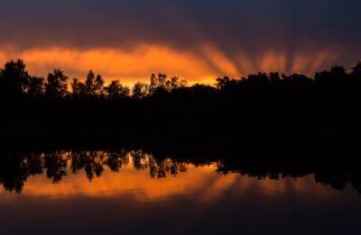 lever du soleil, nuit, aube, silhouette, rétro-éclairé, crépuscule, soleil, ciel, paysage