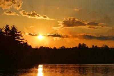 изгрев, подсветка, зората, вода, слънце, здрач, езерото, небе, пейзаж