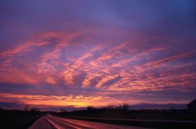 Ανατολή του ηλίου, σιλουέτα, φύση, ουρανό, σούρουπο, αυγή, ατμόσφαιρα, ήλιος, τοπίο
