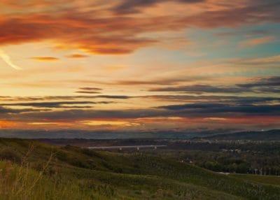 Alba, collina, Parco nazionale, collina, sole, paesaggio, cielo, all'alba, all'aperto, erba