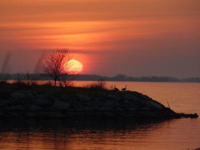 sunrise, sky, backlit, dawn, water, dusk, backlit, sun, landscape, ocean