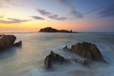 Alba, onda, acqua, alba, tramonto, spiaggia, oceano, mare, Costa
