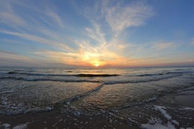 salida del sol, ola, Pacífico, sol, agua, mar, playa, mar, paisaje, amanecer, Costa