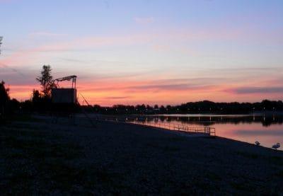 amanecer, Costa, sol, agua, amanecer, puente, mar, paisaje, estructura