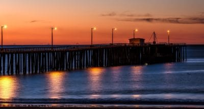 sunlight, pier, pacific, sunrise, water, bridge, dawn, pier, sea, dusk, boat, sky