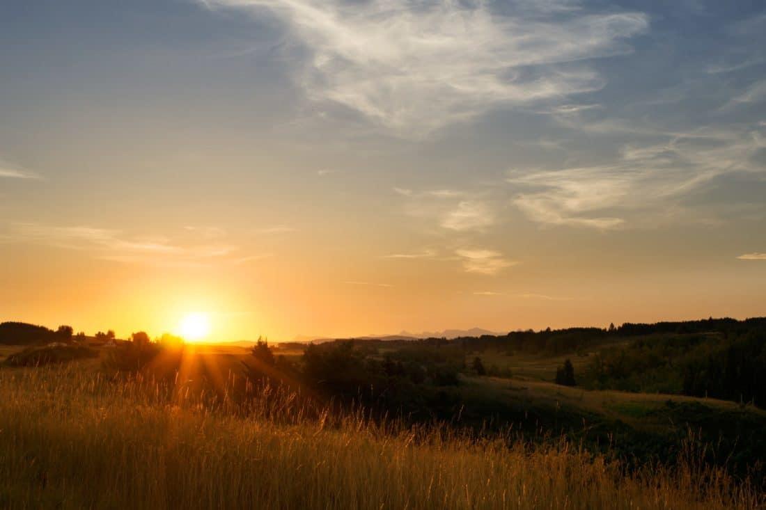 kostenlose bild sonnenaufgang sonnenschein wolke rasen d mmerung landschaft sonne himmel. Black Bedroom Furniture Sets. Home Design Ideas