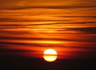 lever du soleil, nuage, rouge, ciel, été, nature, paysage, crépuscule, rétro-éclairé, soleil, aube, crépuscule