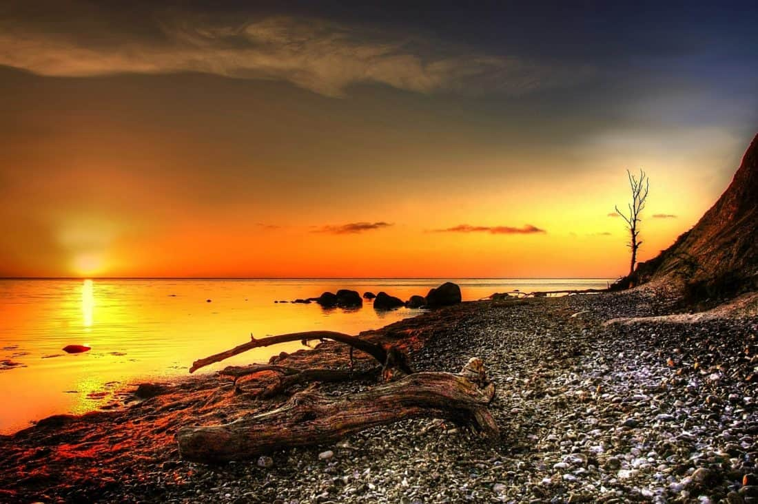matahari terbit, siluet, pantai, pantai, laut, air, laut, matahari, fajar, langit, lansekap