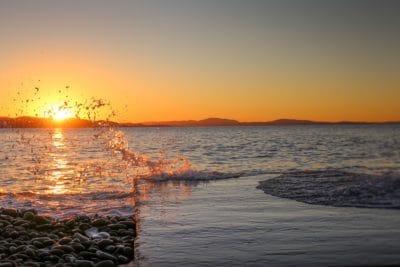 sluneční záření, Pacifik, sunrise, dawn, voda, slunce, soumraku, moře, pláž, oceán, obloha