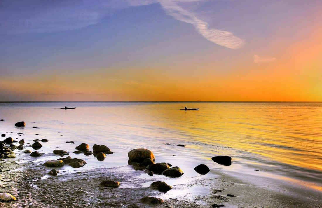 water, sunrise, ride, tropical island, beach, sun, sea, ocean, seaside, sand
