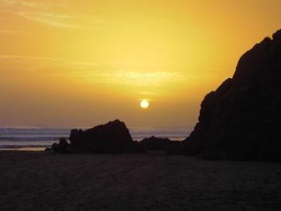 Sunrise гора тінь, темний, сонячного світла, Світанок, сонце, сутінки, краєвид, пляж, води, підсвічуванням