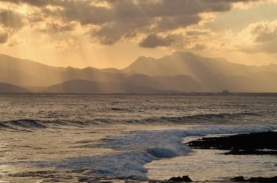 vand, solopgang, sky, baggrundsbelyst, dawn, landskab, strand, havet, ocean, shore