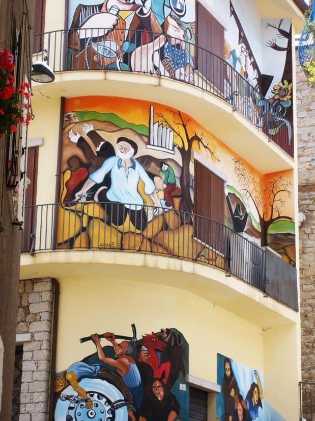 Kunst, Design, Balkon, Architektur, Stadt, bunt