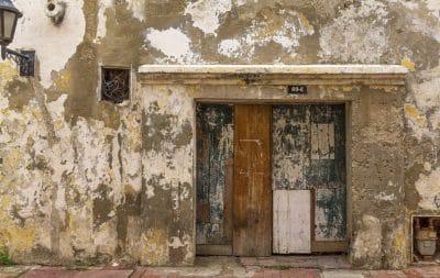 architecture, front door, house, old, abandoned, wall, door