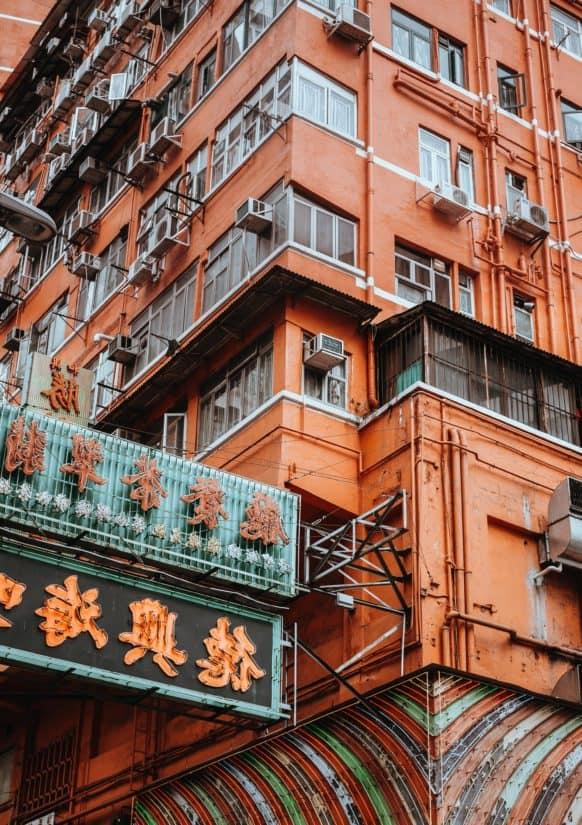 építészeti, lakás, street, fa, erkély, homlokzat, erkély, város, városi, szerkezete