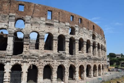 amphitheater, ancient, Colosseum, architecture, Rome, Italy