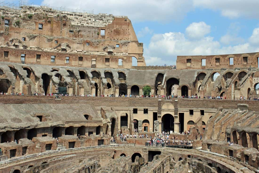 amphitheater, architecture, stadium, Rome, Italy, Colosseum, ancient
