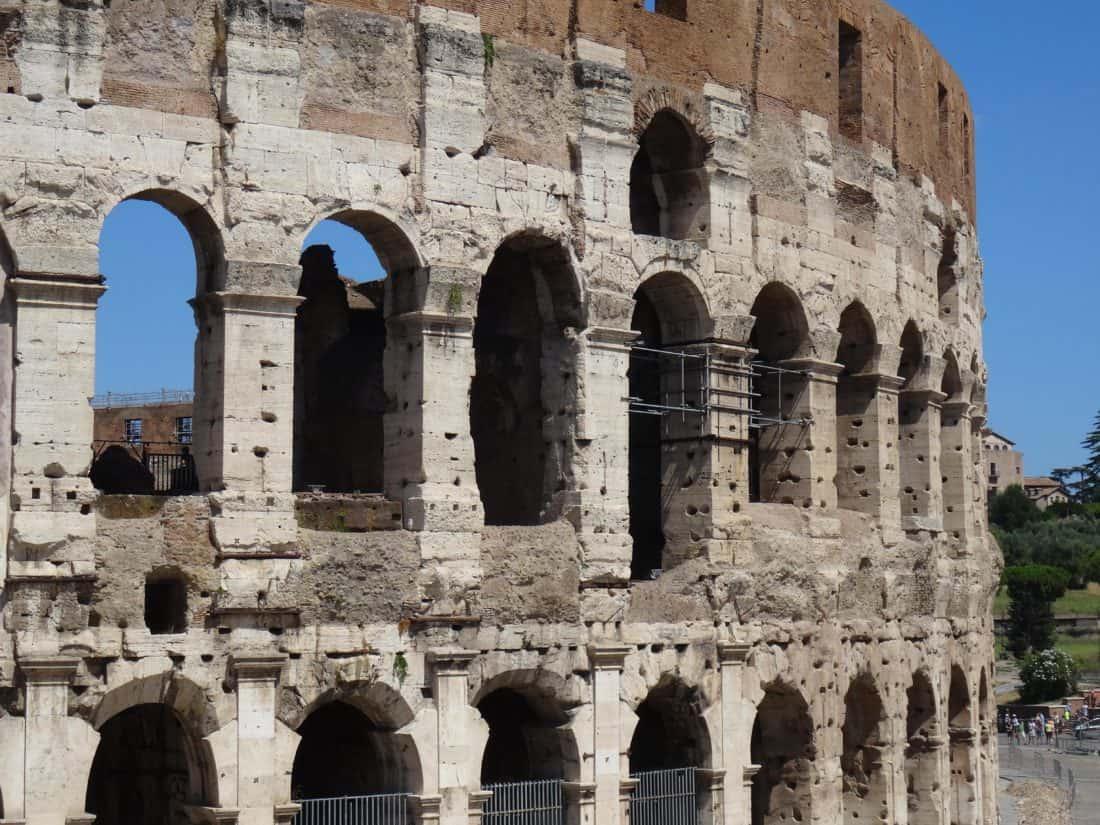 arhitektura, stari, stari, luka, kamena, Rim, Italija, amfiteatar